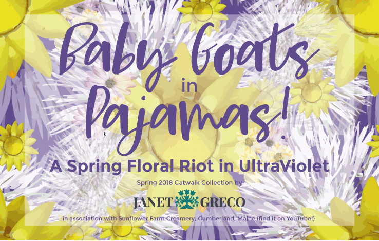 Baby Goats in Pajamas - Spring Floral Riot in Ultravioet